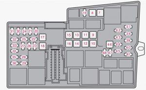 Volvo V40 - fuse box diagram - engine compartment