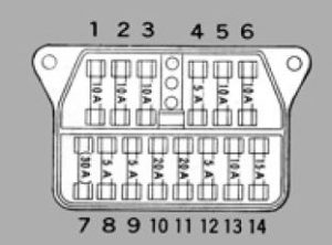 Toyota Crown - fuse box diagram