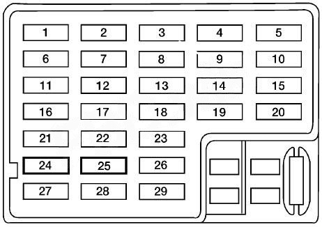 Nissan Altima (1998 - 2001) - fuse box diagram - Auto Genius
