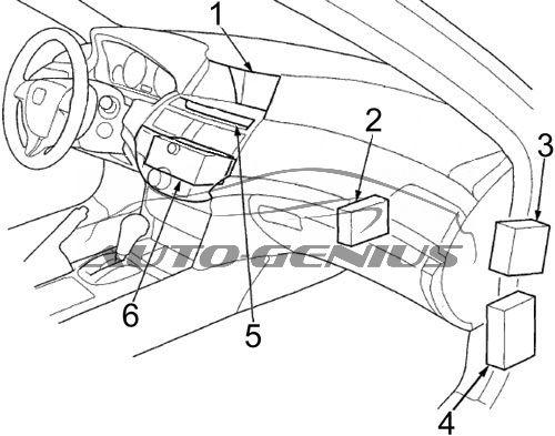 Honda Crosstour (2010 - 2015) - fuse box diagram - Auto GeniusAuto Genius