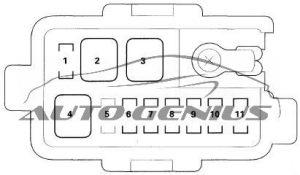 Honda Pilot - fuse box diagram - engine compartment fuse box no. 2