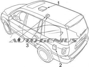 Honda Pilot - fuse box diagram - passenger compartment