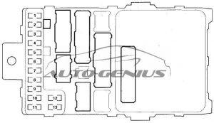 Honda Pilot - fuse box diagram - passenger compartment fuse box no. 1