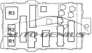 Honda Pilot - fuse box diagram - passenger compartment fuse box no. 1 (back side)