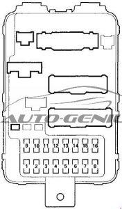 Honda Pilot - fuse box diagram - passenger compartment fuse box no. 2