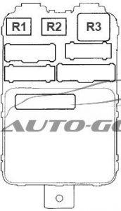 Honda Pilot - fuse box diagram - passenger compartment fuse box no. 2 (back side)