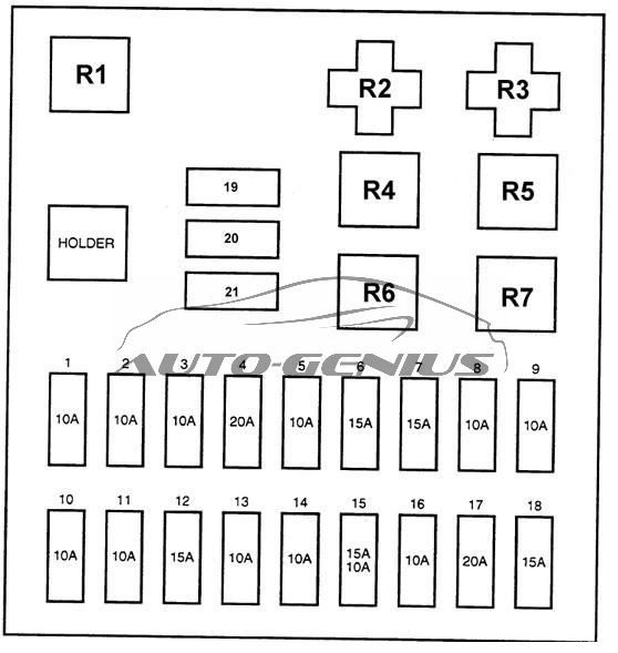 [SCHEMATICS_43NM]  Hyundai H100 (AU) (1996 - 2003) - fuse box diagram - Auto Genius | 1999 Ford Au Fuse Box Diagram |  | Auto Genius