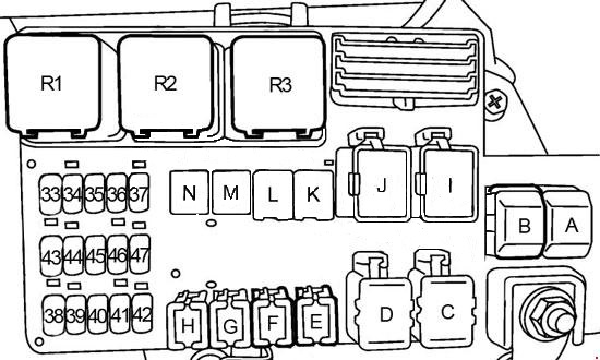 2002 Nissan Quest Fuse Box Diagram