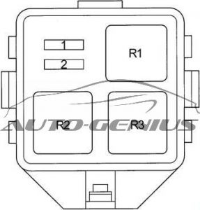 Toyota Echo Verso - fuse box diagram - additional fuse box