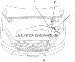 Toyota Echo Verso - fuse box diagram - engine compartment