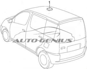Toyota Echo Verso - fuse box diagram - moon roof control