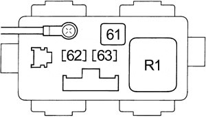 Honda Civic - fuse box diagram - engine compartment relay box