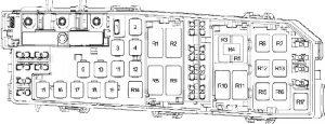 Ford Transit Conect - fuse box diagram - engine compartment