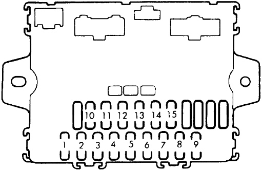honda accord  1985 - 1989  - fuse box diagram