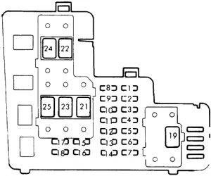 Honda Accrod - fuse box diagram - engine compartment