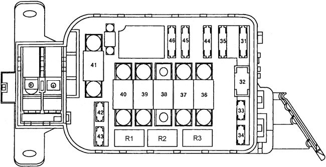 Honda Del Sol  1992 - 1995  - Fuse Box Diagram