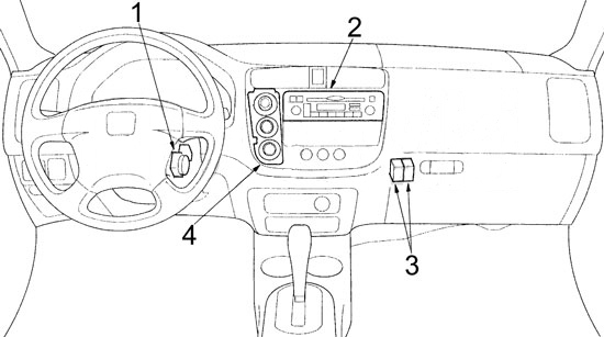 Fuse Box View 2001 Civic Diagram