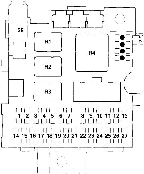 Honda Insight  2000 - 2006  - Fuse Box Diagram