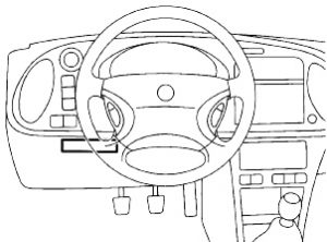 Saab 900 - fuse box diagram - passenger compartment relay