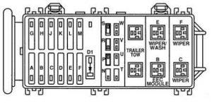 Ford Royal - fuse box diagram - engine compartment fuse box