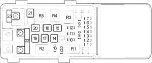 Honda Accord - fuse box diagram - engine compartment fuse box