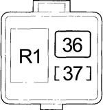 Honda Accord - fuse box diagram - engine compartment relay box no. 1 hybrid