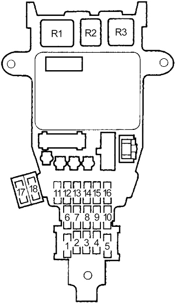 Honda Accord  1994 - 1997  - Fuse Box Diagram