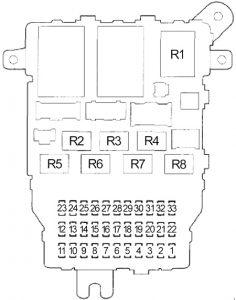Honda Accord - fuse box diagram - passenger compartment fuse box