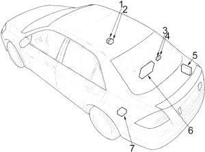 Honda Accord - fuse box diagram - sedan