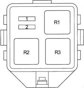 Toyota Echo - fuse box diagram - additional fuse box