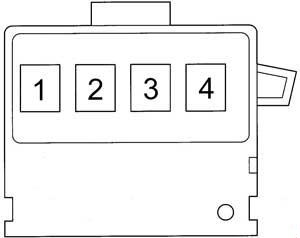Toyota Echo - fuse box diagram - fusible link block