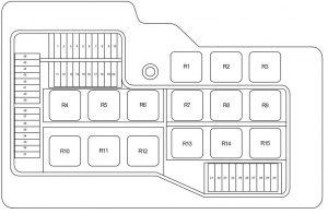BMW Z3 - fuse box diagram - front power distribution box