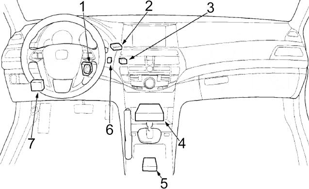 Honda Accord (2008 - 2012) - fuse box diagram - Auto GeniusAuto Genius