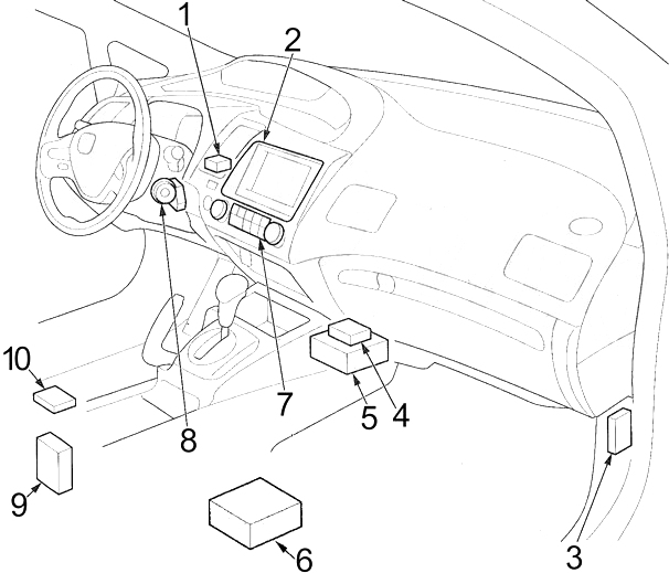 Honda Civic 2006 2011 Fuse Box Diagram Auto Genius