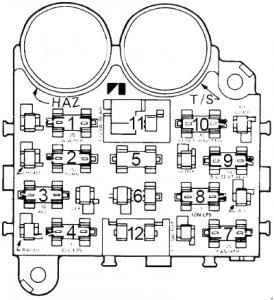 AMC Pacer - fuse box diagram - type 2
