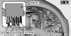 BMW X6 - fuse box diagram - relay - electric fan cutoff relay - K9137