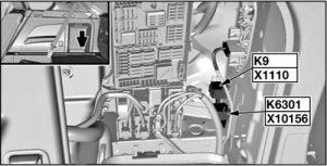 BMW X6 - fuse box diagram - relay - fuel pump relay - K6301
