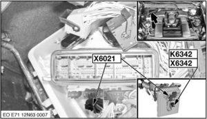 BMW X6 - fuse box diagram - relay quantity control valves relay - K6342