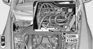 BMW X6 - fuse box diagram - relay SCR system load relay K2085