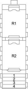 Chrysler 300M - fuse box diagram - additional fuse box