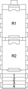Chrysler Concorde - fuse box diagram - additional fuse box