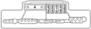 Chrysler Crossfire - fuse box diagram - engine compartment