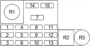 Dodge D/W 350 - fuse box diagram