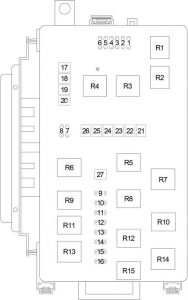 Dodge Charger - fuse box diagram - engine compartment