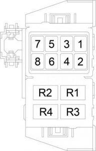 Dodge Charger - fuse box diagram - relay box (police)