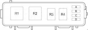Dodge Dakota - fuse box diagram - engine relay box