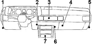 Chrysler Conquest - 1983 - 1989 - fuse box diagram - relay location