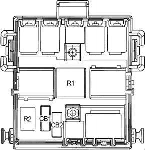 Hummer H2 - fuse box diagram - fuse box diagram - passenger compartment relay box
