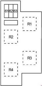 Infiniti EX37 - fuse box diagram - engine compartment box 3
