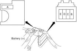Infiniti QX50 - fuse box diagram - fusible link block
